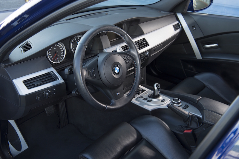 2005 BMW M5 E60 interior steering wheel