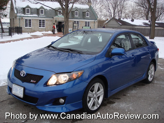 2009 Toyota Corolla XRS Blue front view