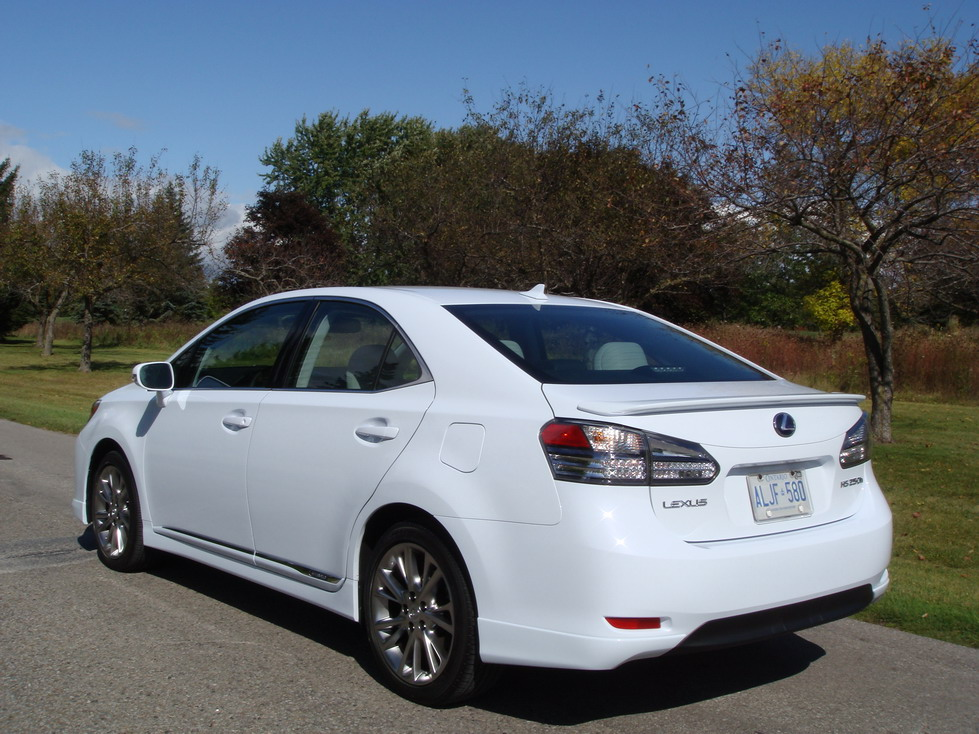 2010 Lexus HS250h White Rear ...