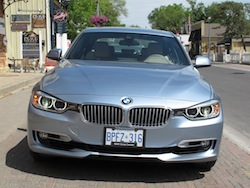 2013 BMW Activehybrid 3 Blue front view