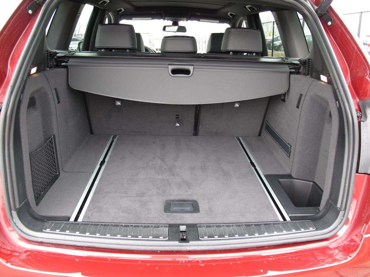 2013 bmw x3 xdrive35i red rear trunk storage space