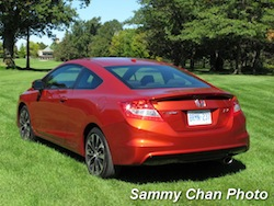 2013 Honda Civic Si Coupe Orange rear side view