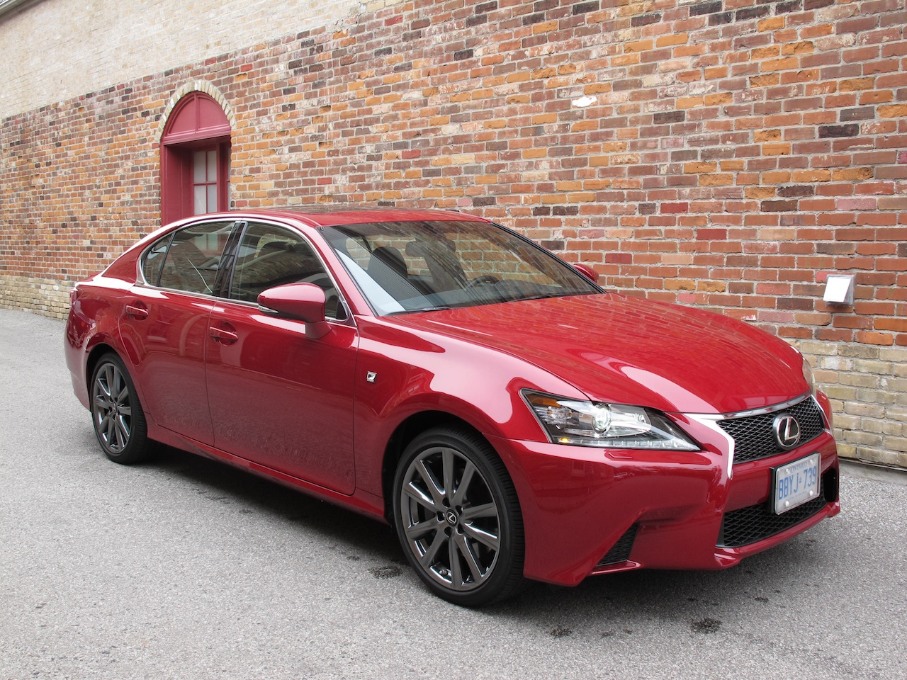 2013 Lexus GS350 F Sport AWD Red Front Side View