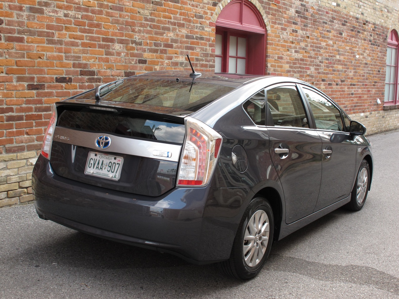 ... 2013 Toyota Prius Plugin Hybrid Gray Rear Side View ...