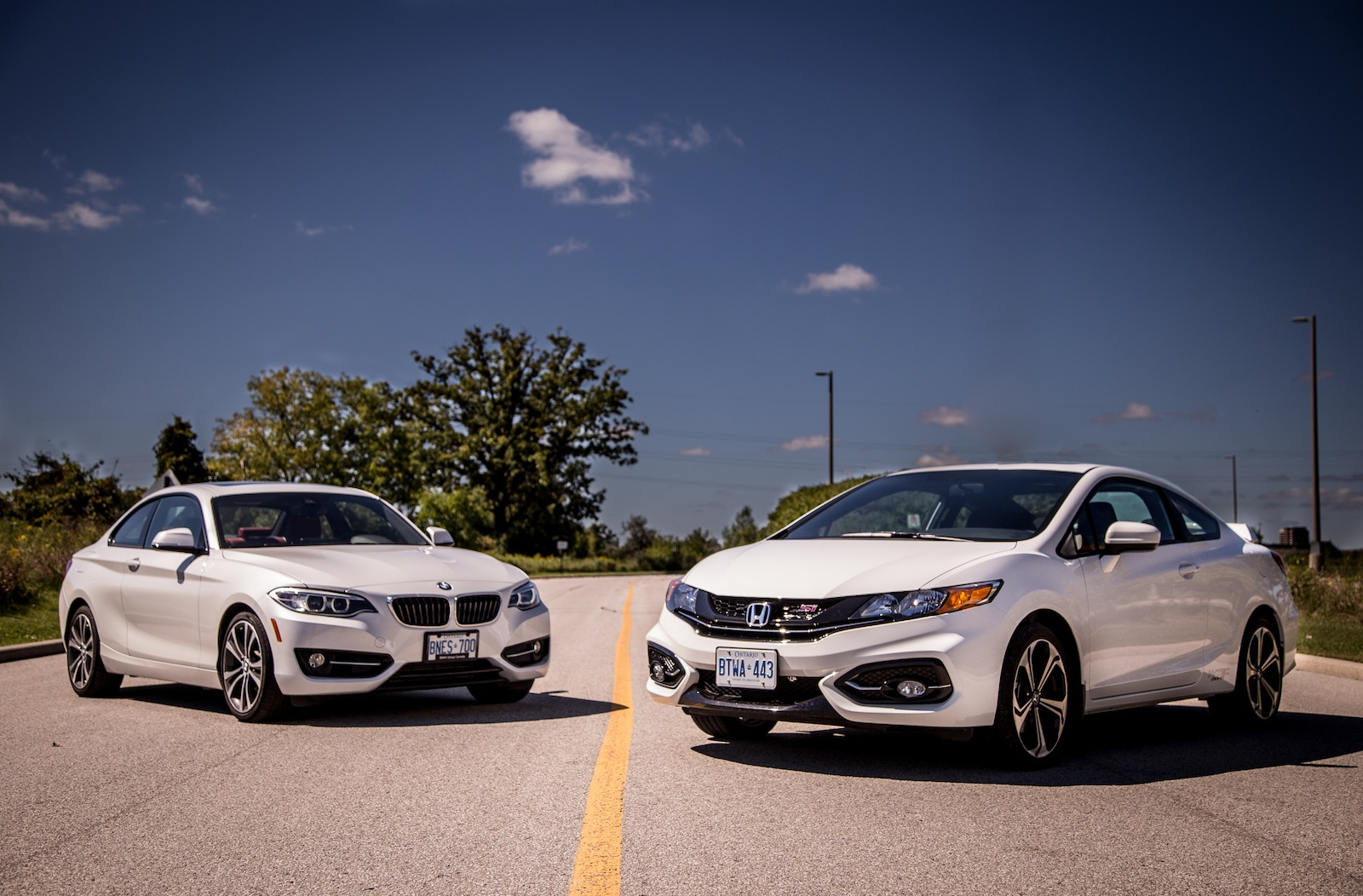 2014 bmw 228i vs 2014 honda civic si coupe   comparison   cars photos test drives and
