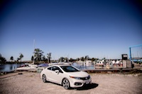 2014 Honda Civic Si Coupe White front