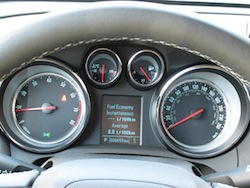2014 Buick Encore Blue instrument cluster gauges