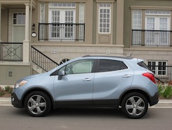 2014 Buick Encore Blue side view
