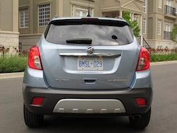 2014 Buick Encore Blue full rear view