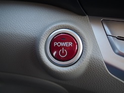 2014 Honda Accord Hybrid White red power button