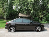 2014 Honda Civic Sedan Touring Brown side profile with wheels rims