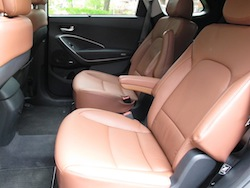 2014 Hyundai Sante Fe XL Silver second row rear seats