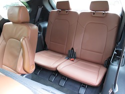2014 Hyundai Sante Fe XL Silver third row rear seats