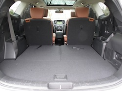 2014 Hyundai Sante Fe XL Silver 50/50 folded seats down
