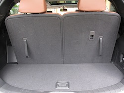 2014 Hyundai Sante Fe XL Silver trunk storage space