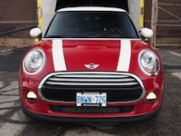 2014 MINI Cooper 3-door hatchback front with white red