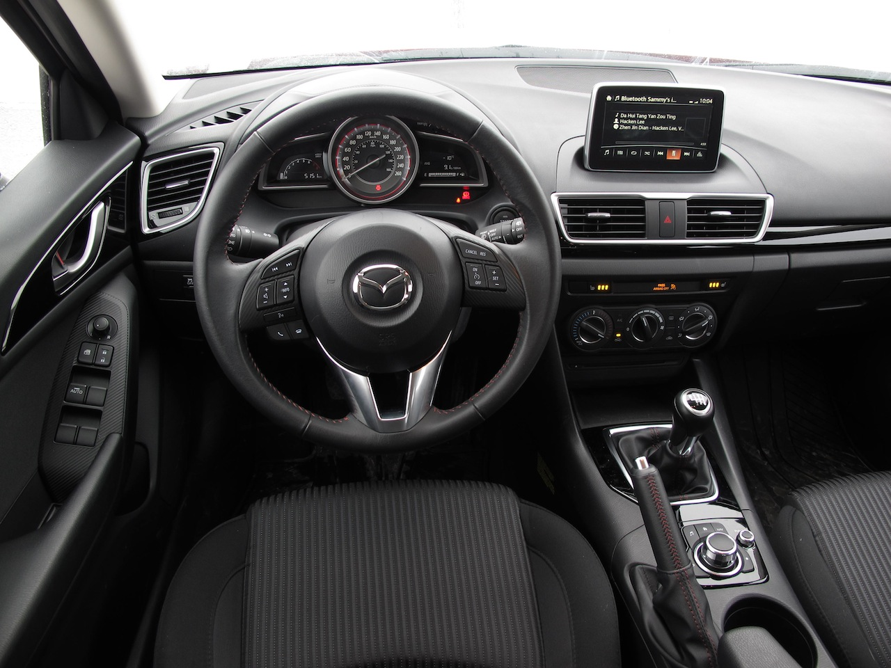 2014 mazda 3 sport gs soul red interior dashboard