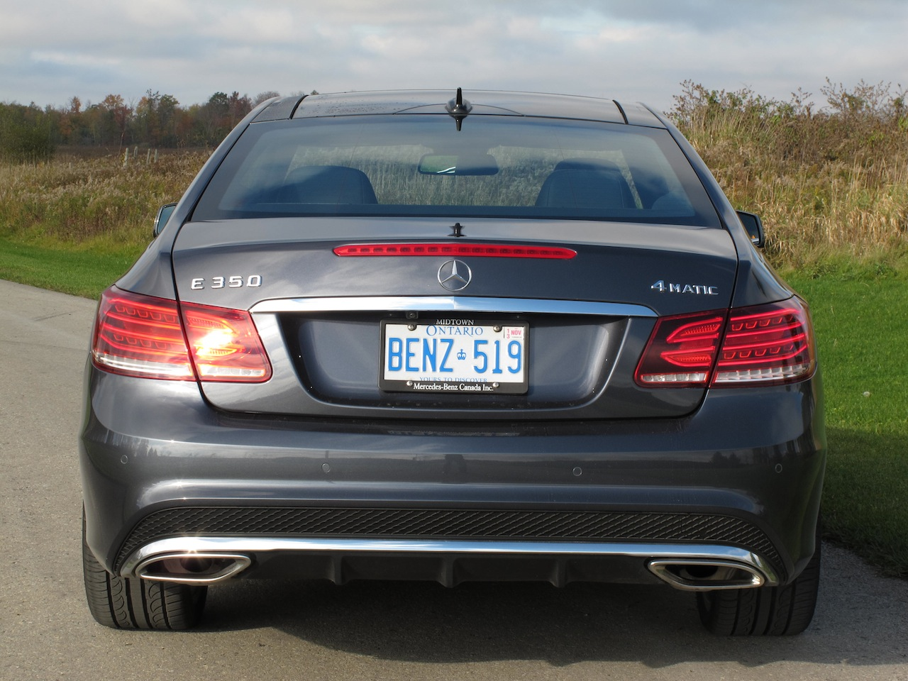 2014 mercedes benz e350 coupe gray rear badge exhausts badge lights