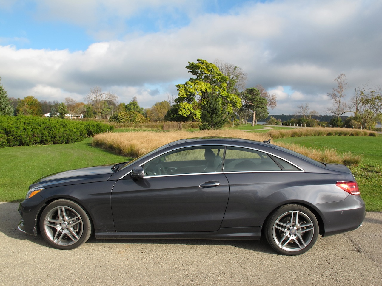 2014 mercedes benz e350 coupe gray side view window mirror rims wheels. Cars Review. Best American Auto & Cars Review