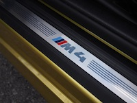 2015 BMW M4 Coupe Austin Yellow door sills badge