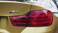 2015 BMW M4 Coupe Austin Yellow rear taillights badge