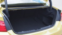 2015 BMW M4 Coupe Austin Yellow trunk storage space
