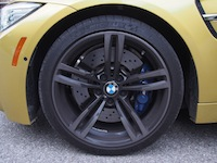 2015 BMW M4 Coupe Austin Yellow 19 inch wheels rims blue calipers