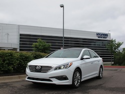 2015 Hyundai Sonata Limited white front side view