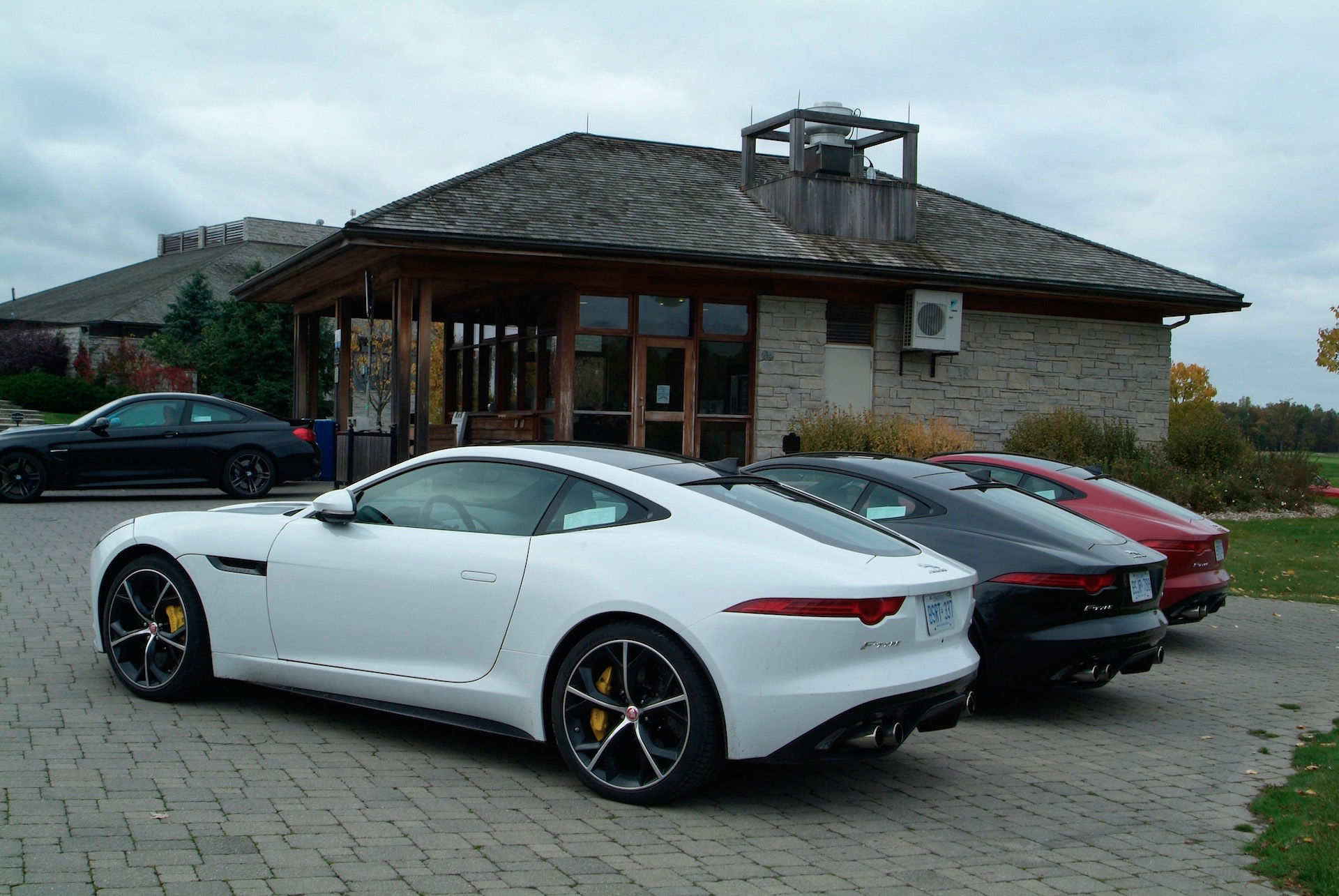 ... 2015 Jaguar F Type R Coupe White Black Red Rear Views ...