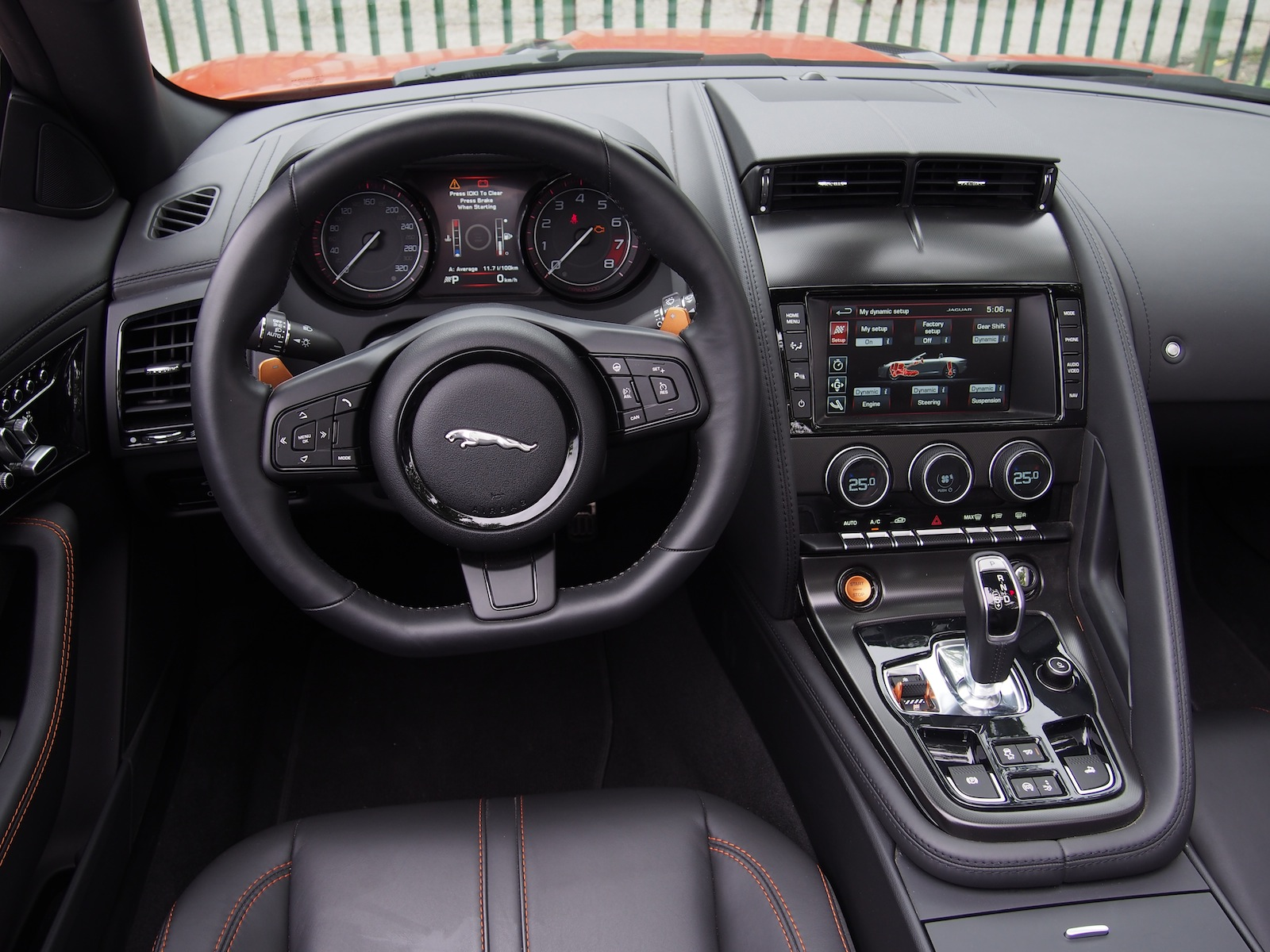 Superb ... 2015 Jaguar F Type V8S Convertible Firesand Interior ...