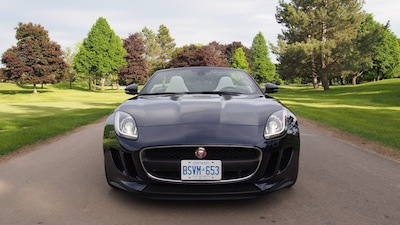 2015 Jaguar F-Type V6 Convertible Indigo Blue Metallic front view