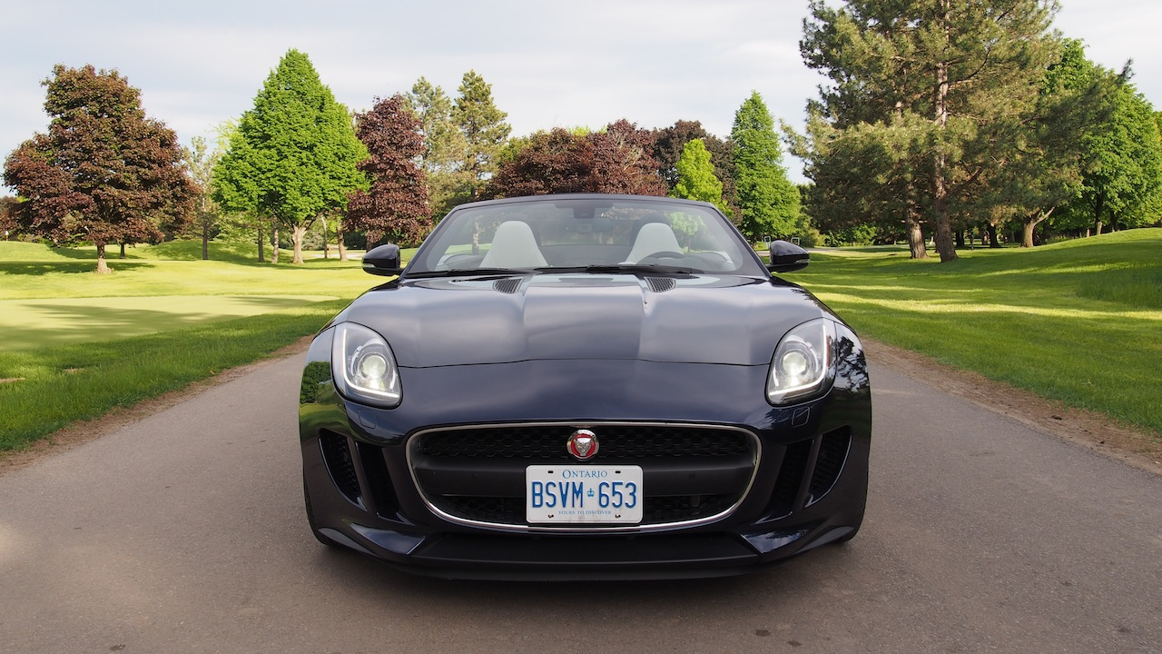 2015 jaguar f type v6 convertible indigo blue metallic front view