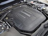 2015 Jaguar F-Type V6 Convertible Indigo Blue Metallic engine bay supercharged