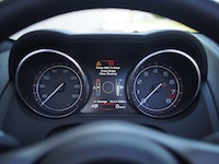 2015 Jaguar F-Type V6 Convertible Indigo Blue Metallic gauges tachometer digital display