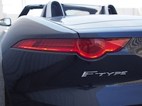 2015 Jaguar F-Type V6 Convertible Indigo Blue Metallic rear taillights