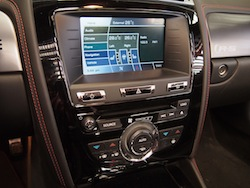 2015 Jaguar XKR-S Convertible Black touchscreen console controls