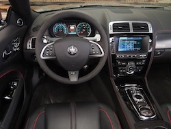 2015 Jaguar XKR-S Convertible Black interior steering wheel dashboard