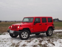 2015 Jeep Wrangler Unlimited Sahara red