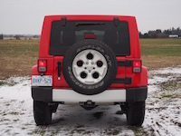 2015 Jeep Wrangler Unlimited Sahara rear spare tire