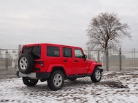 2015 Jeep Wrangler Unlimited Sahara parked