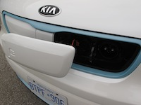 2015 Kia Soul EV White Blue front plugin socket