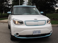 2015 Kia Soul EV White Blue grill headlights hid
