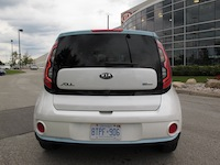 2015 Kia Soul EV White Blue rear