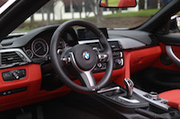 bmw 435i cabriolet red interior
