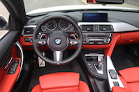 bmw 435i cabriolet black red white interior