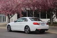 bmw 435i cabriolet cherry blossoms sakura