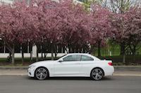 bmw 435i cabriolet sakura blossoms trees