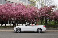 bmw 435i cabriolet side top down