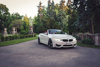 bmw m4 cabriolet sunnybrook park front side view