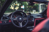 bmw m4 cabriolet sakir orange interior